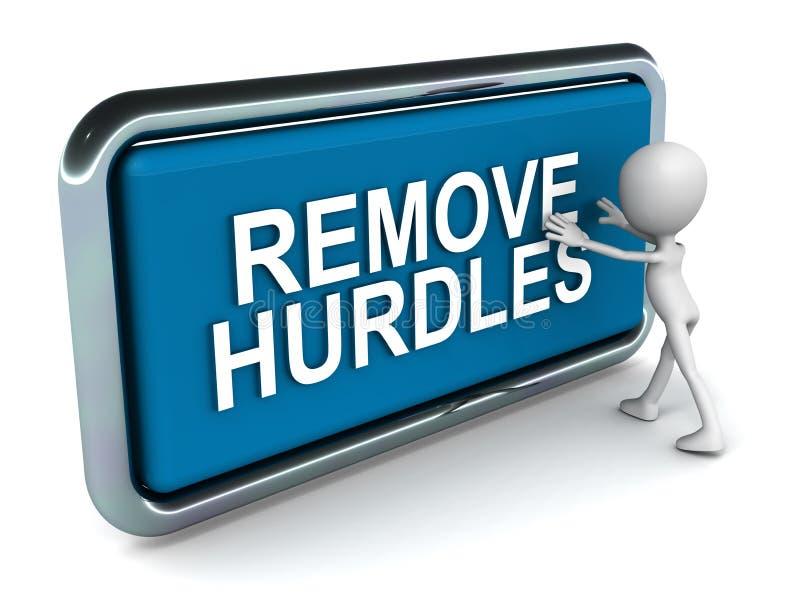 Remova os obstáculos ilustração royalty free