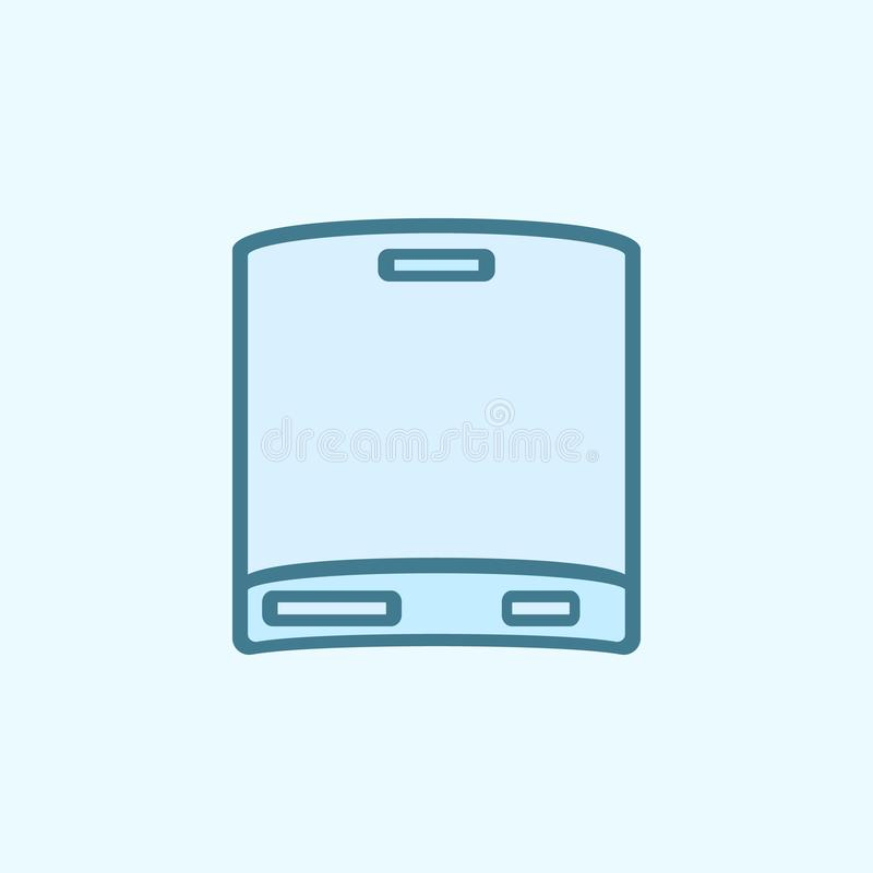 removable hard disc field outline icon. Element of 2 color simple icon. Thin line icon for website design and development, app royalty free illustration