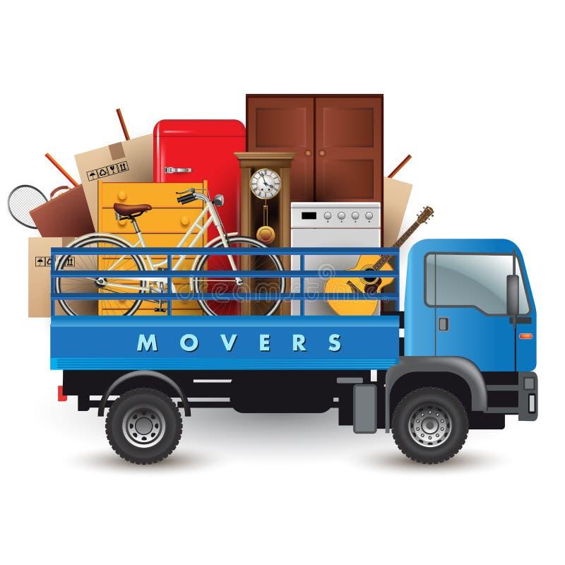 Removals truck royalty free illustration