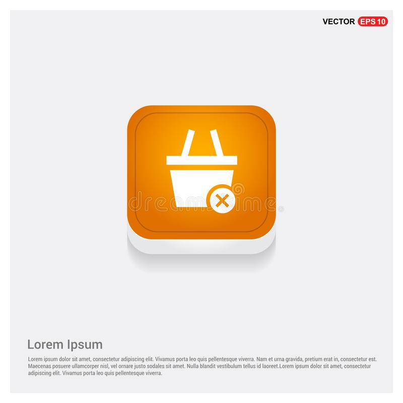 Remove from basket icon. This Vector EPS 10 illustration is best for print media, web design, application design user interface and infographics with well royalty free illustration