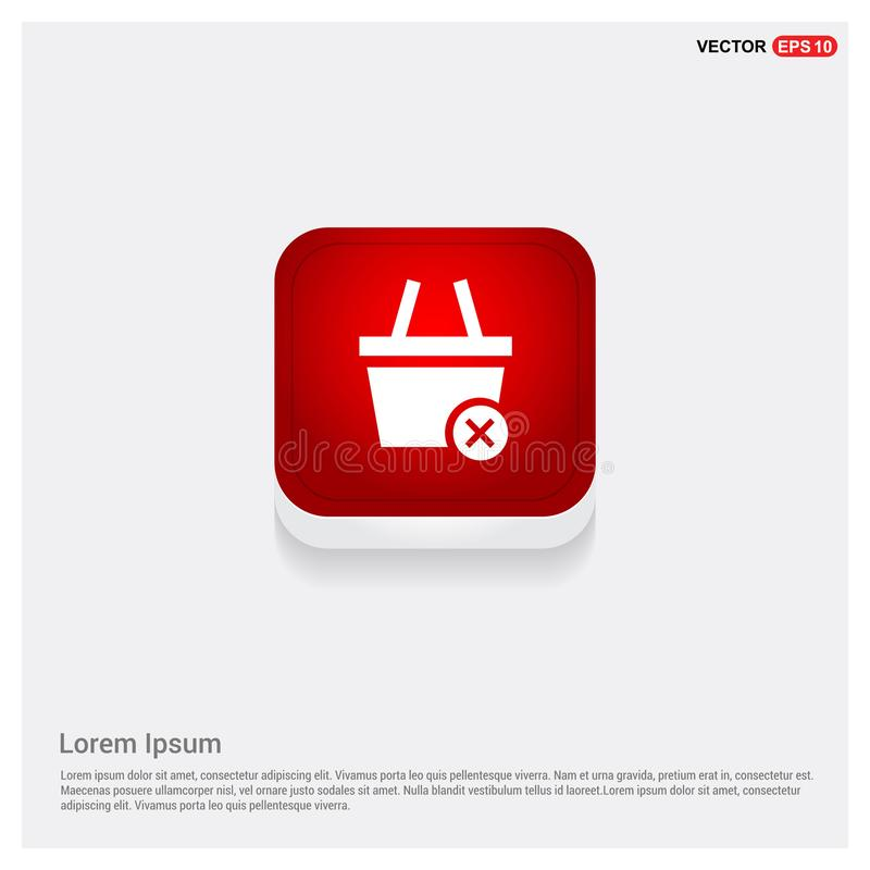 Remove from basket icon. This Vector EPS 10 illustration is best for print media, web design, application design user interface and infographics with well stock illustration