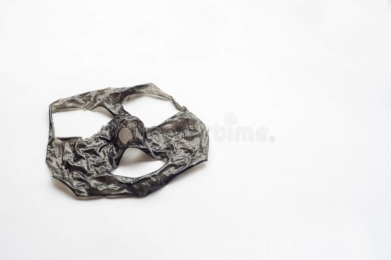 Cosmetic black mask royalty free stock photos