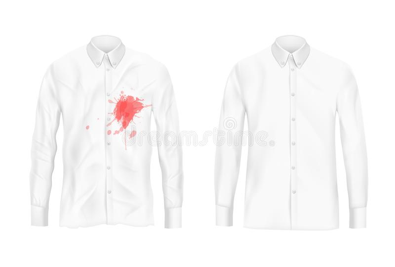 Remover λεκέδων πουκάμισων έννοια πειράματος ελεύθερη απεικόνιση δικαιώματος