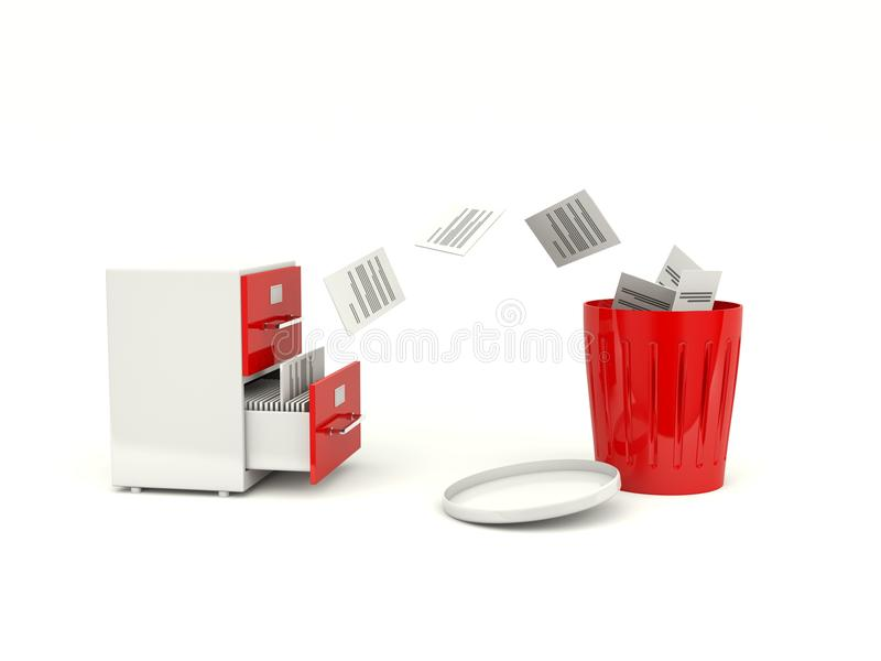 Removing files from archive cabinet royalty free illustration