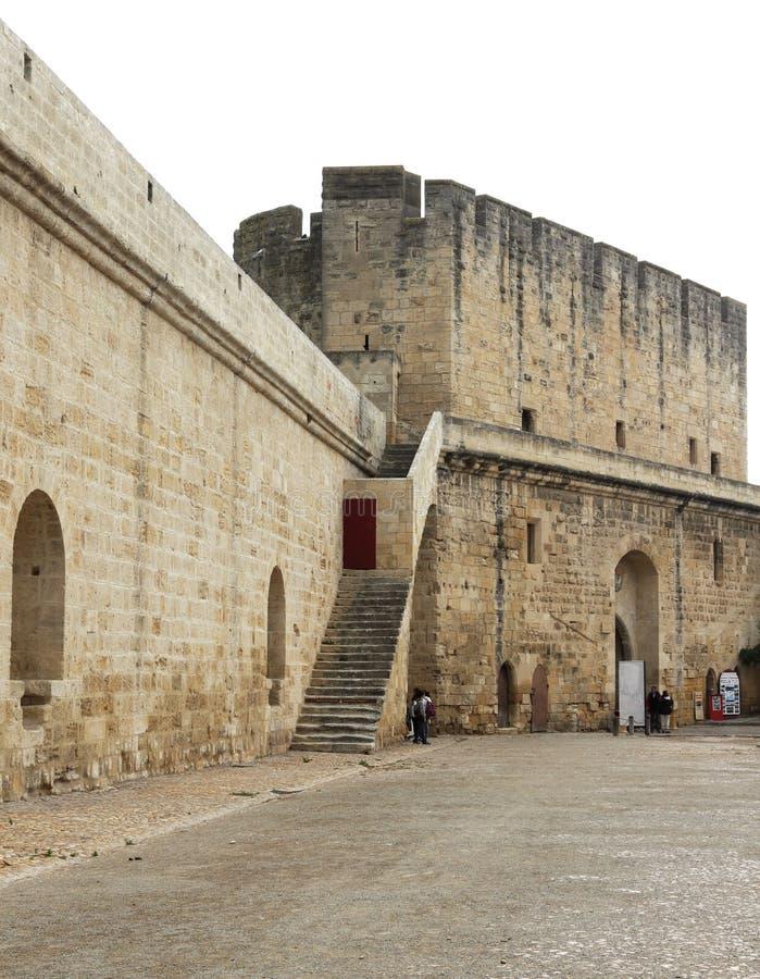 Remparts d'Aigues-Mortes, France image stock