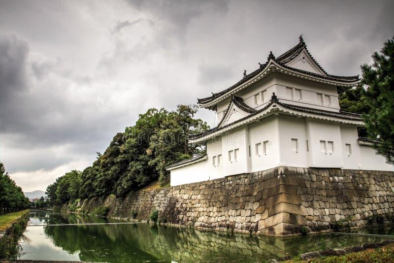Remparts de château de Nijo et fossés, Kyoto, kansai, Japon image stock