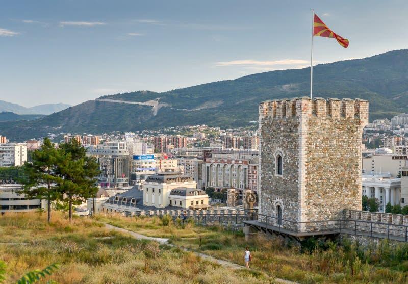Remparts de forteresse de chou frisé, Skope, Macédoine du nord image libre de droits