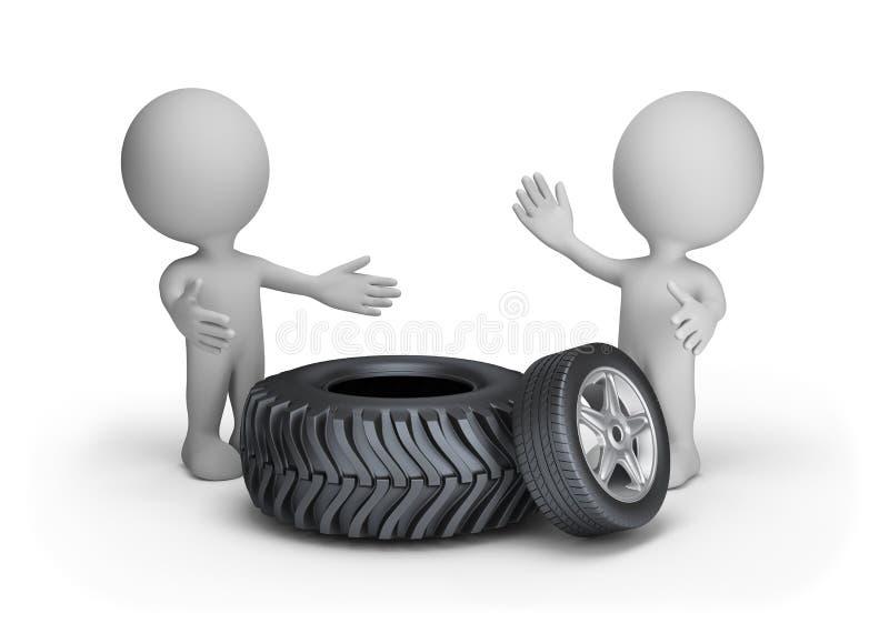 Remplacement des pneus d'automobile illustration libre de droits