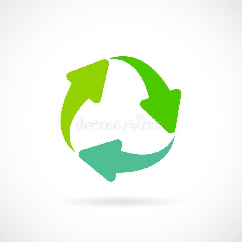 Remplacez le symbole de vecteur de cycle de flèche illustration stock