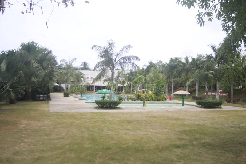 A a rempli? la petite station de vacances partie dans la ville de Teledo dans la province de Cebu Philippines photos stock