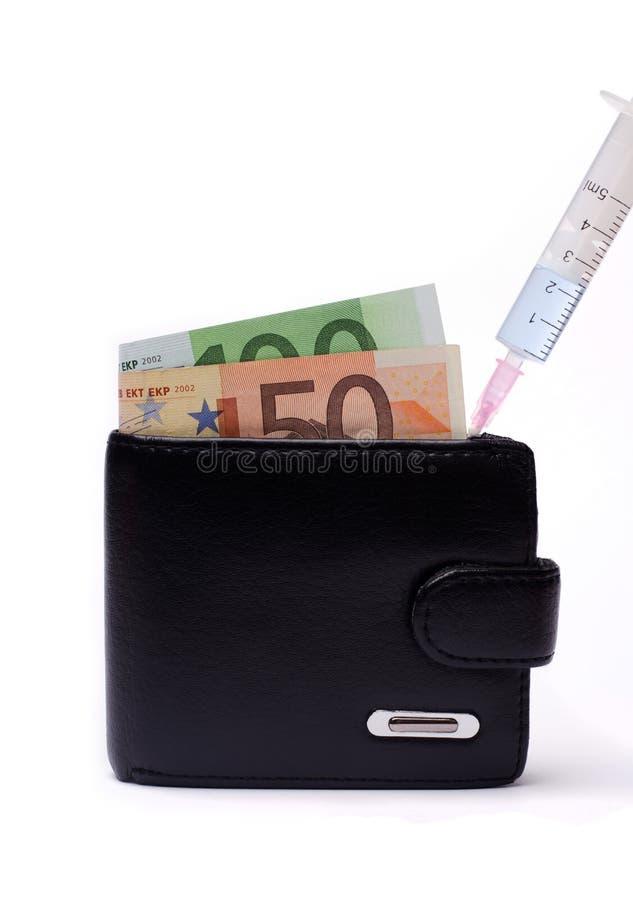 Remplir portefeuille d'argent image libre de droits