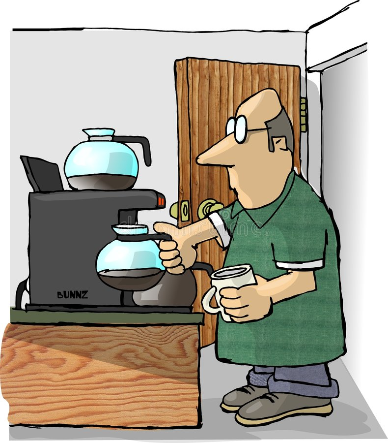 Remplissage de café illustration libre de droits