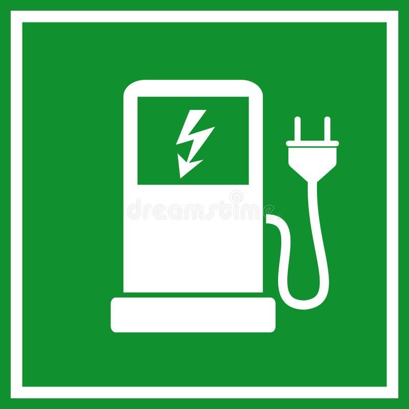 Remplissage de véhicule électrique illustration libre de droits