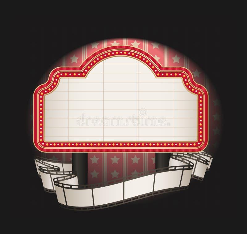 remsa för banerfilmstort festtält royaltyfri illustrationer