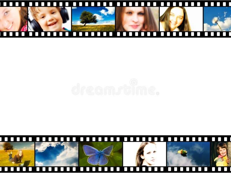 remsa för filmram royaltyfri illustrationer