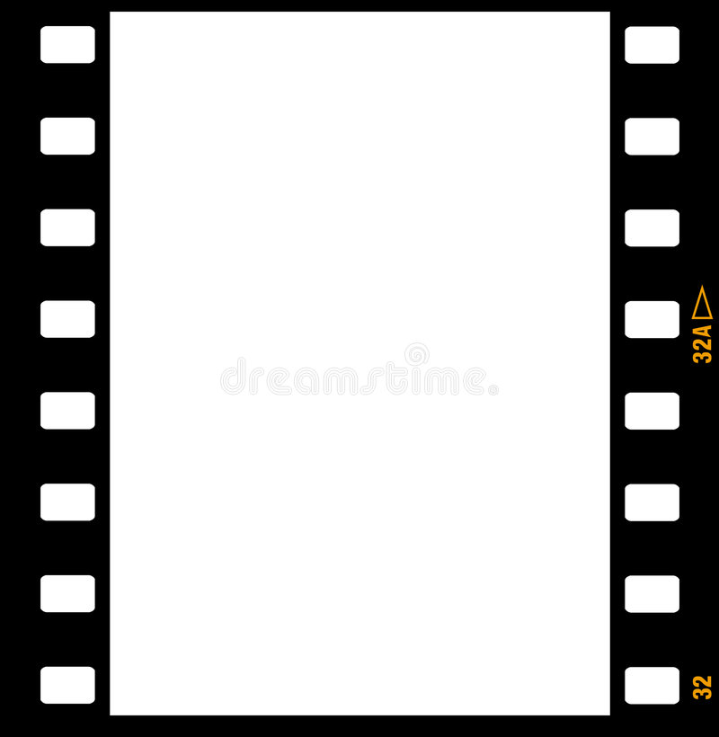 remsa för ramar för 35mm filmram vektor illustrationer