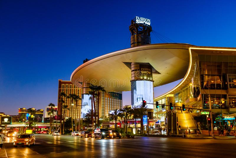 Remsan i i stadens centrum Las Vegas arkivbild