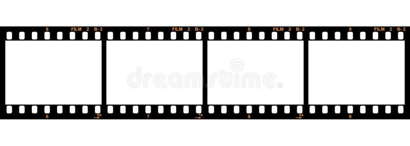 remsavektor för 35 film vektor illustrationer