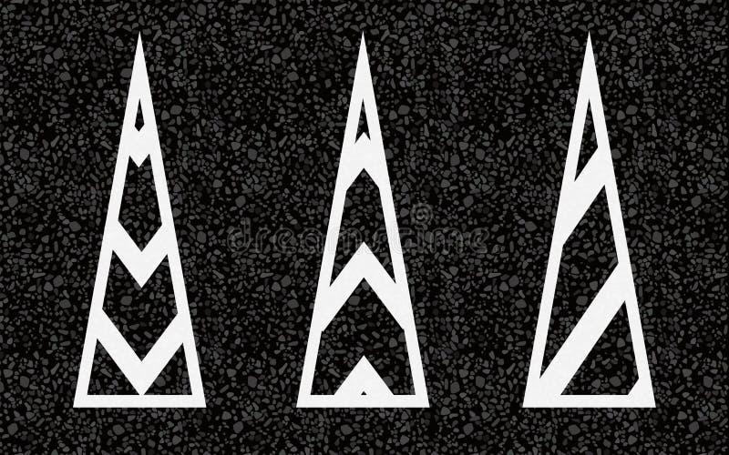 remsor för pilhorisontalmarkeringsväg royaltyfri illustrationer