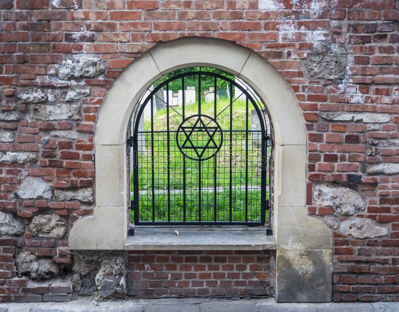 Remuh犹太公墓在克拉科夫,波兰 免版税库存照片