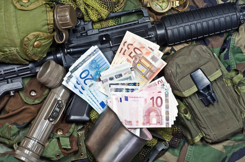 Remuneration soldier of fortune royalty free stock images