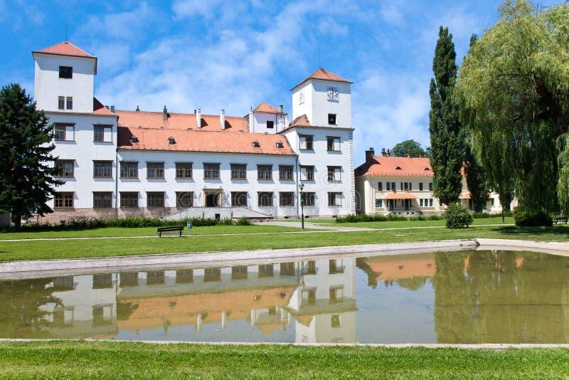 RenässansBucovice slott, Moravia, Tjeckien arkivbilder