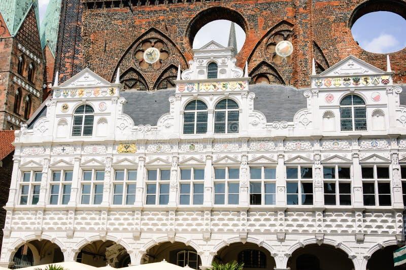 Renässansgalleri Lübeck Rathaus fotografering för bildbyråer
