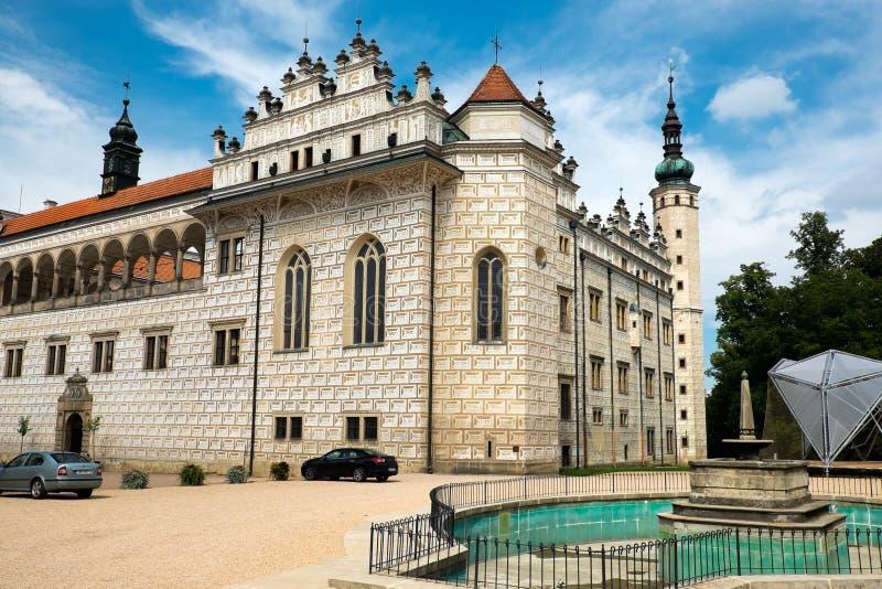 Renässansslott Litomysl, Tjeckien royaltyfri fotografi
