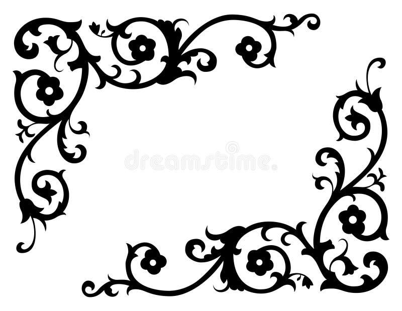 renässansvektor för 2 hörn vektor illustrationer