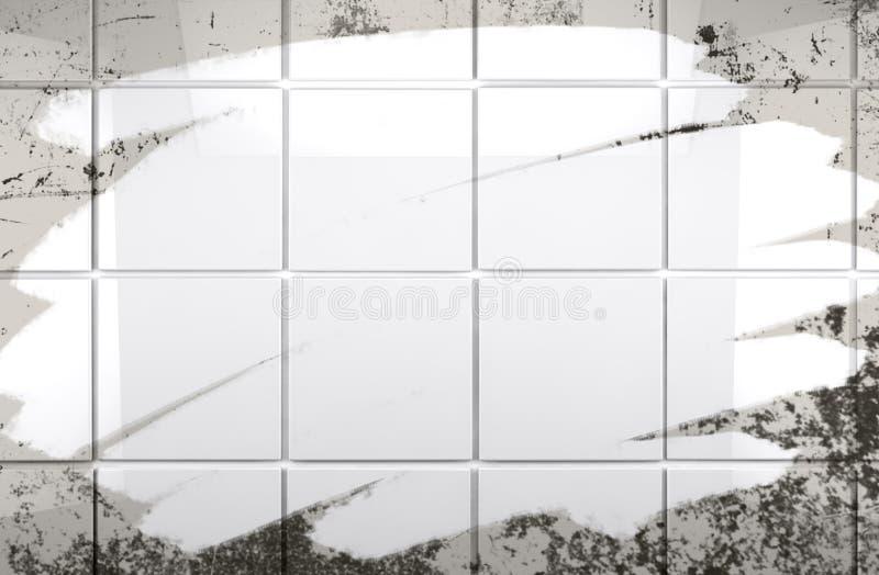 Ren bakgrund för tegelplattaväggbadrum royaltyfri illustrationer