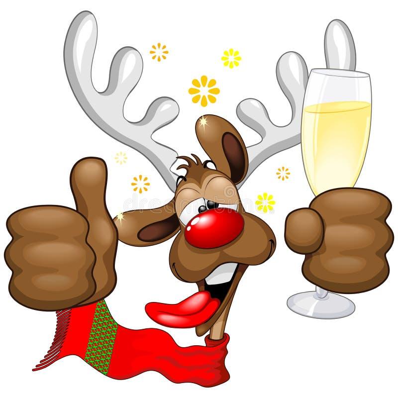 Ren druckit roligt jultecken stock illustrationer