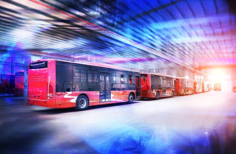 Ren elektrisk buss för ny energi arkivfoton