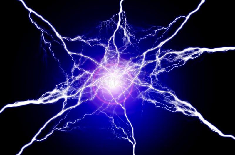Ren energi och elektricitet som symboliserar makt royaltyfri bild
