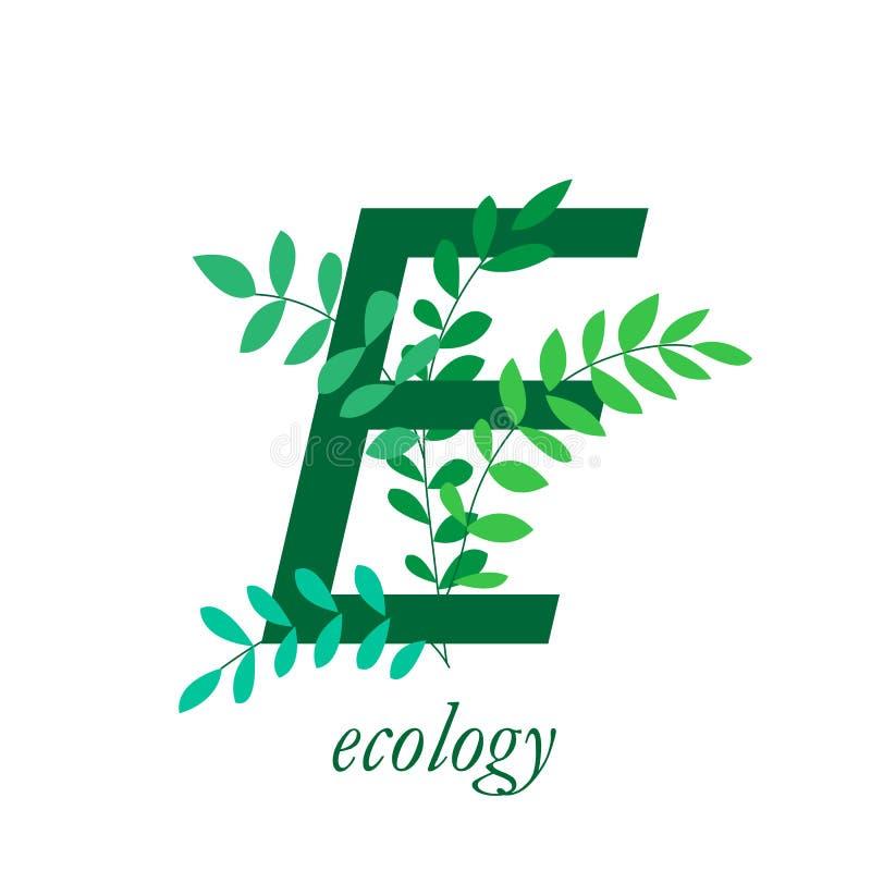 Ren gr?n v?rld Design av en naturlig eco-vänskapsmatch produkt av företaget Plan vektorillustration vektor illustrationer