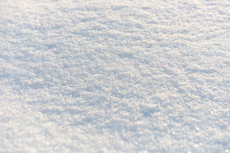 Ren snövit snöbakgrund arkivfoto