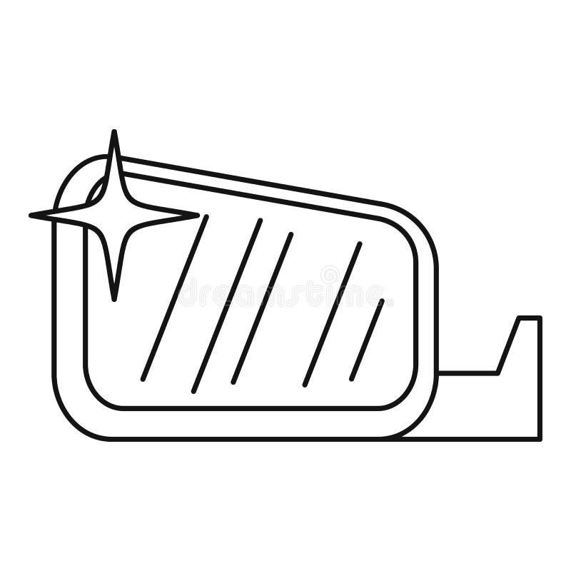 Ren symbol för bilspegel, översiktsstil stock illustrationer