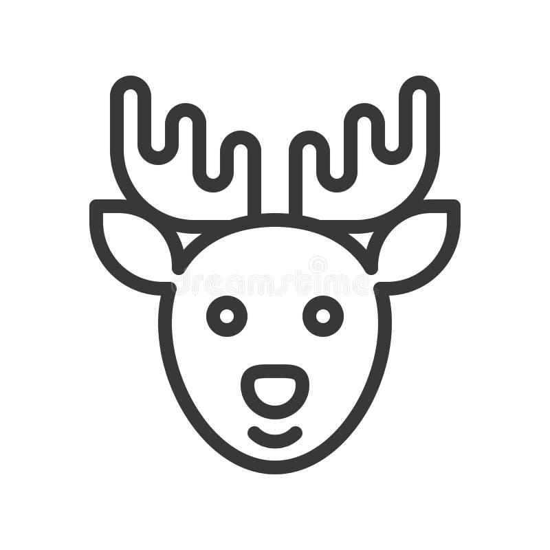 Ren temauppsättning för glad jul, redigerbar slaglängdpix för översikt royaltyfri illustrationer