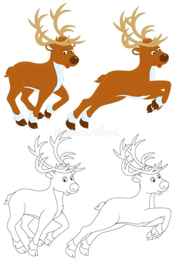 Rena ilustração royalty free