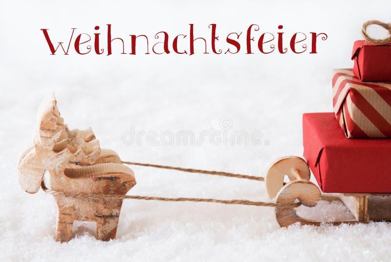 Download A Rena Com O Trenó Na Neve, Weihnachtsfeier Significa A Festa De Natal Imagem de Stock - Imagem de estação, escritório: 80101585