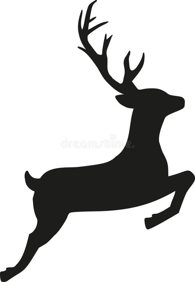 Rena de salto ilustração stock