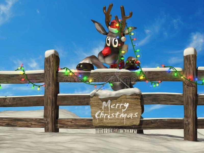 Rena do Natal ilustração do vetor