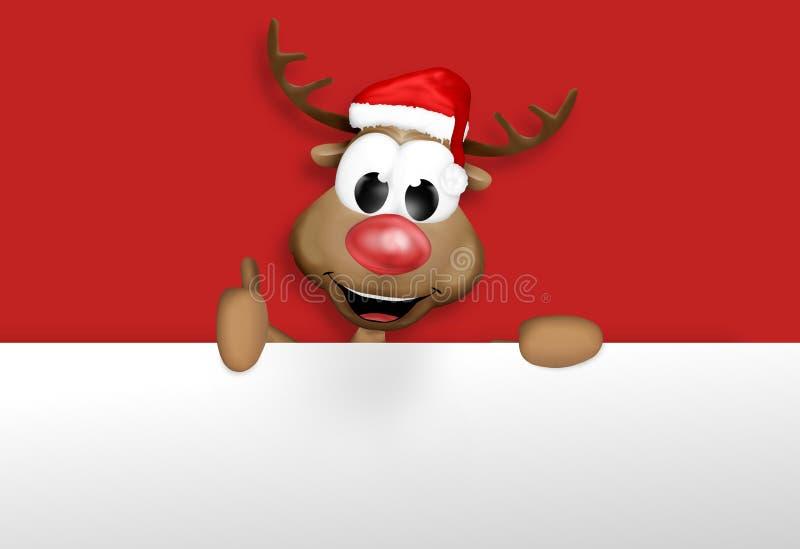 Rena do Natal ilustração stock
