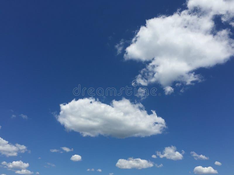Rena fluffiga vitmoln för blå himmel royaltyfri foto