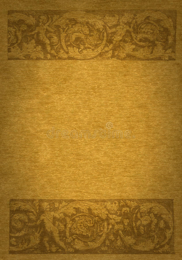 Renaissance banner. Mix of tissue and woven texture background vector illustration