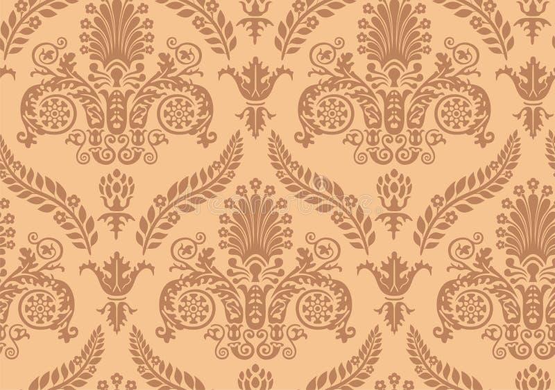 renaissance bezszwowa wektoru tapeta royalty ilustracja
