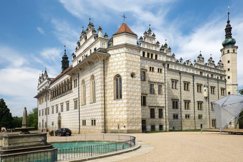 Renaissance castle Litomysl, Czech Republic. Litomysl, Czech Republic - July 25: Renaissance castle in Litomysl, July 25, 2014 stock image