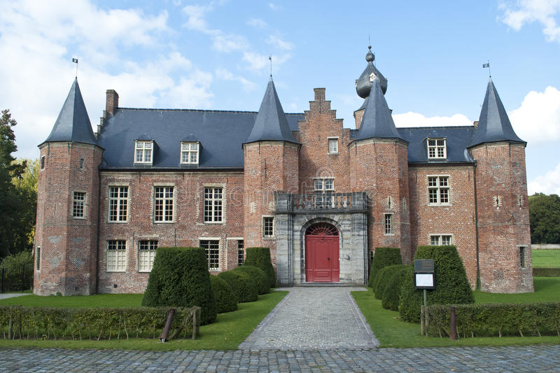Renaissance castle Rumbeke. A Renaissance castle in Rumbeke near Roeselare, Belgium royalty free stock photo