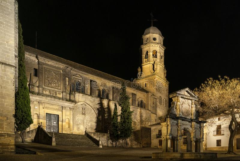Renaissance Cathedral of the Nativity of Our Lady in Baeza, Jaen, Spain. stock photography