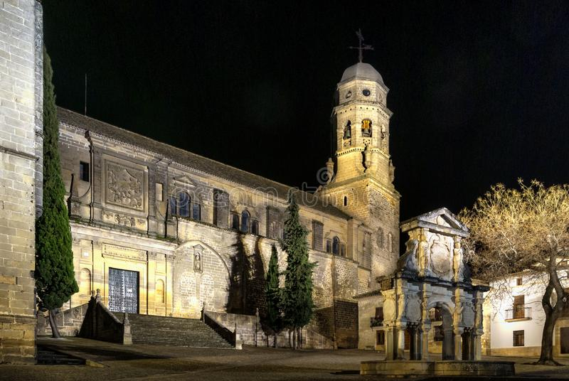 Renaissance Cathedral of the Nativity of Our Lady in Baeza, Jaen, Spain. stock photo