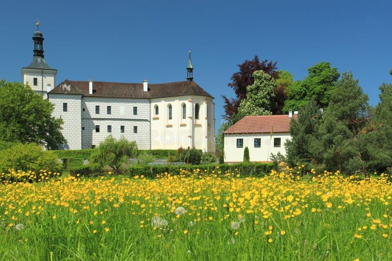 Renaissance chateau Breznice stock images